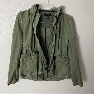 Forever 21 olive green military style jacket small